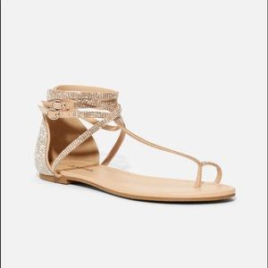 JUST FAB   KYLIE ANKLE   TIE FLAT SANDAL BRAND NEW